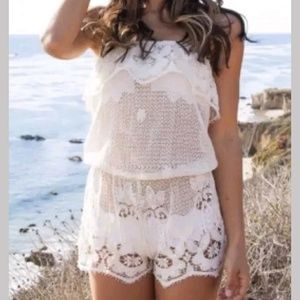 👙Eberjey swimsuit crochet cover up. Size M.